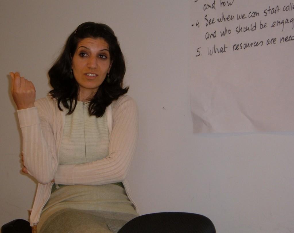 Arab woman participant speaks