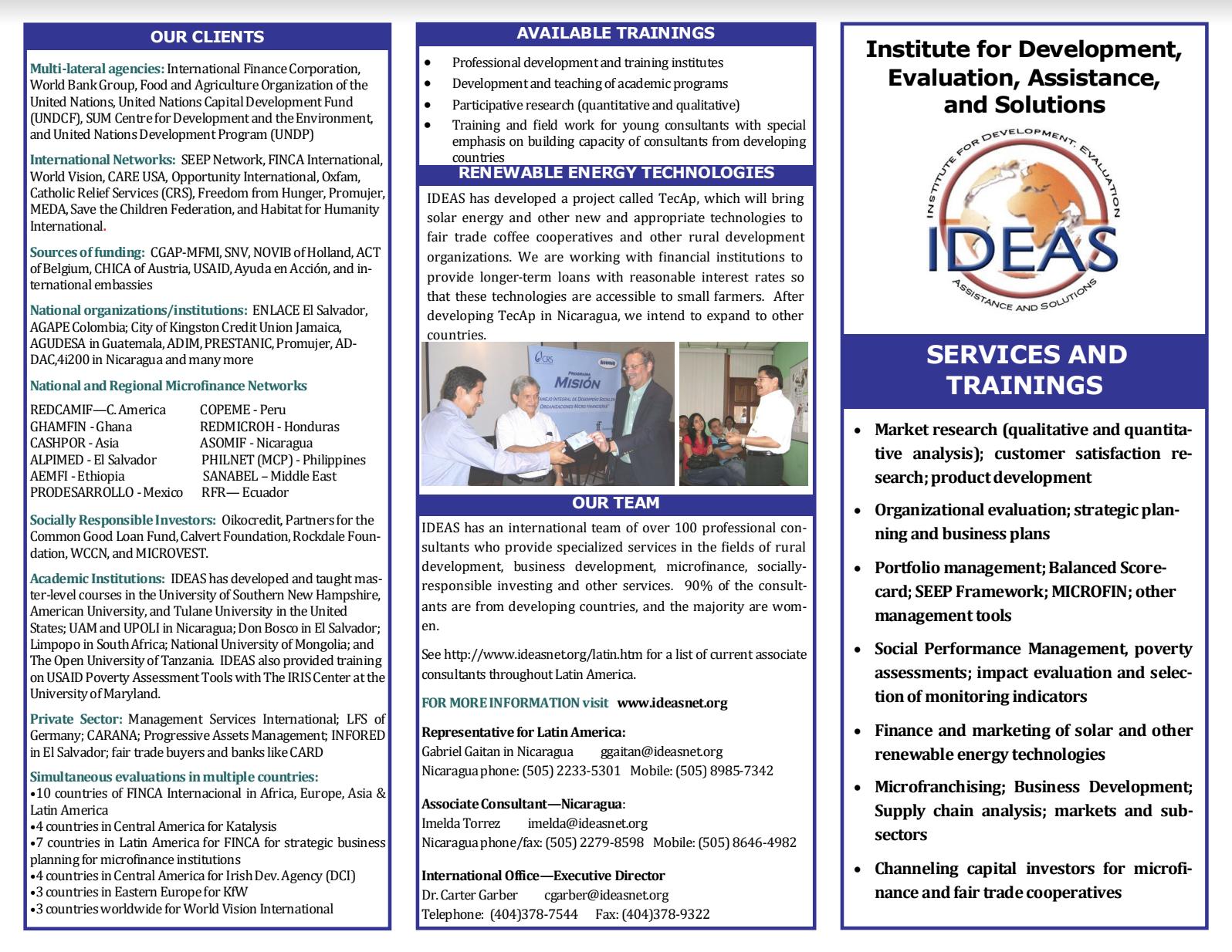 Brochure IDEAS services ENG
