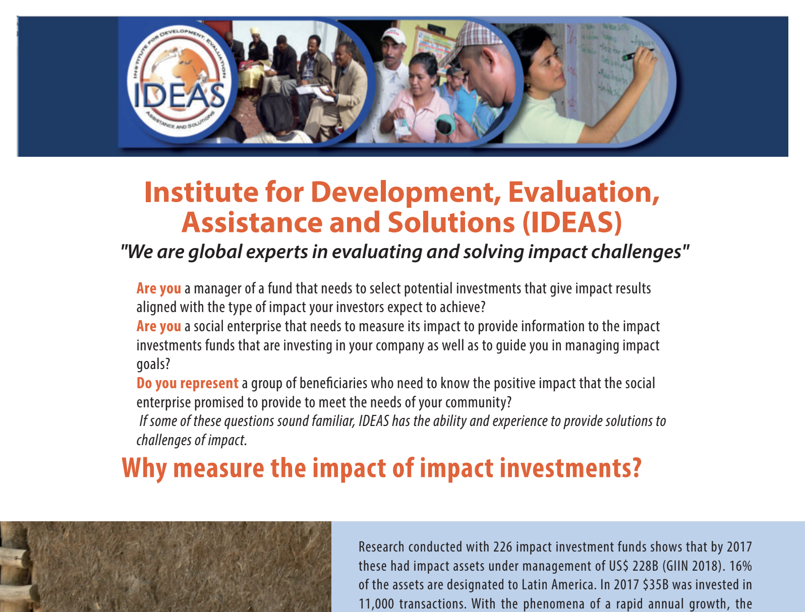 IDEAS impact investment services English