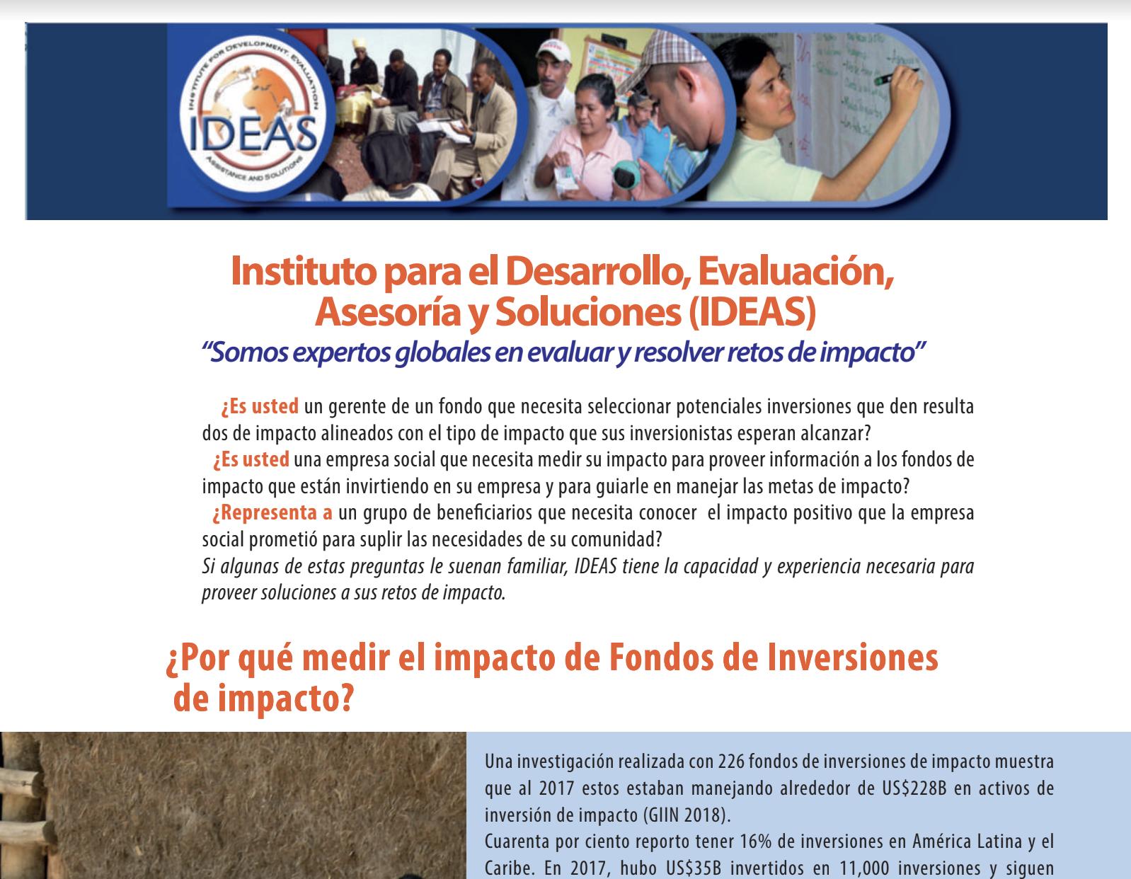IDEAS servicos inversiones de impacto Espanol