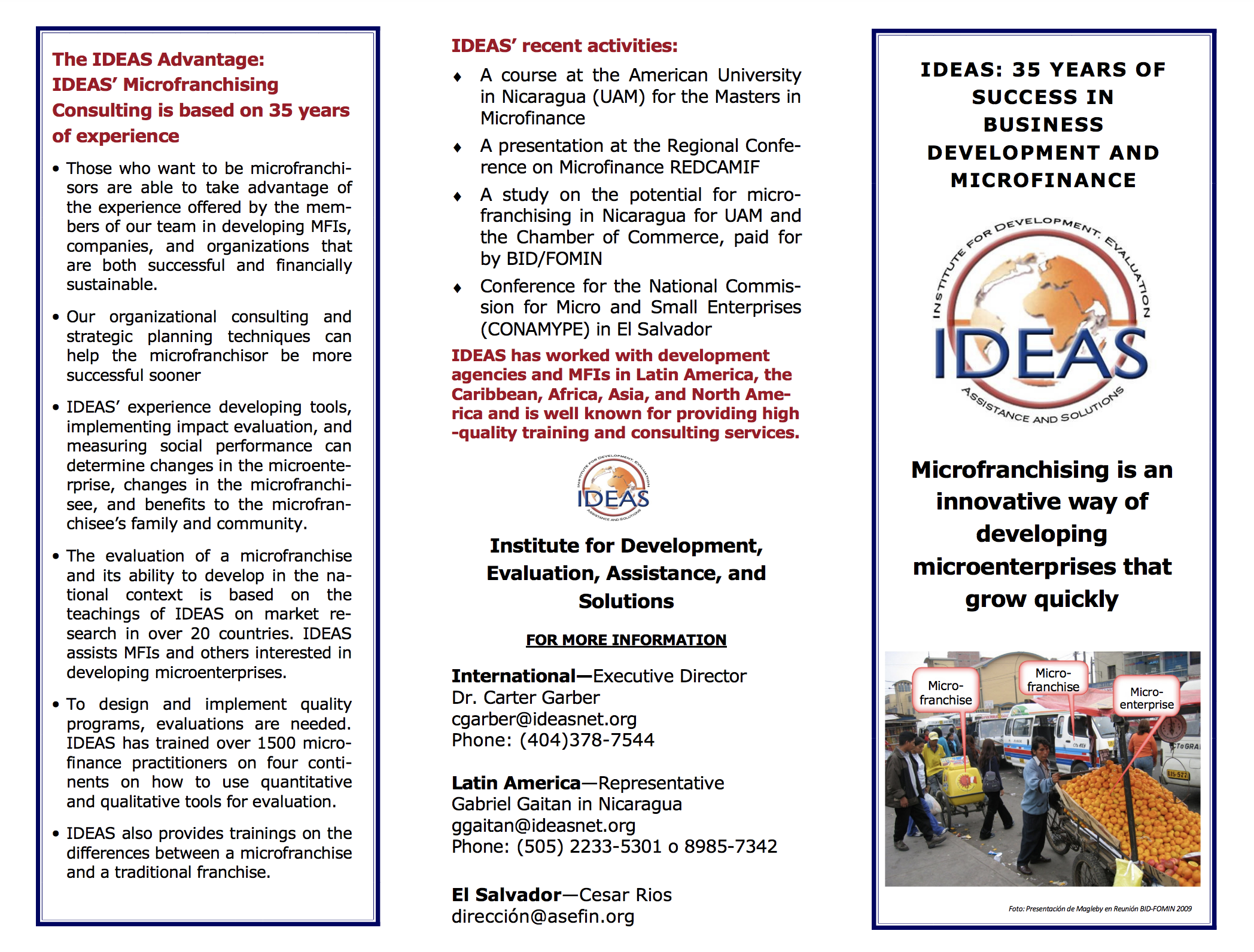 Microfranchising IDEAS brochure 4 March 2011 -- ENG